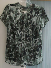 Woman's Pintucked Lined Blouse by Coldwater Creek Size PS NWT
