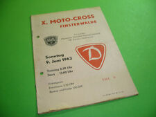 208R01 Programm X. MOTO-CROSS FINSTERWALDE 1963, MC Dynamo ADMV DDR