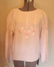 Ladies SWEATER pink decorated Bust 42 MINT!