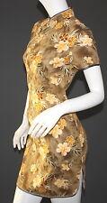 Asiakleid Qipao Abendkleid  Kurzarm Knielang Original  Grösse  L  NEU NEU NEU