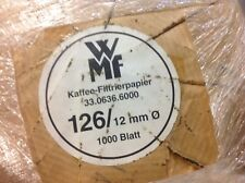 Ca. 1800 Kaffeerundfilter Kaffeefilter Rundfilter 126/12mm für WMF