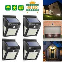 4er Solarleuchte 40 LED Solar Lampe mit Bewegungsmelder Gartenlicht Wandleuchte