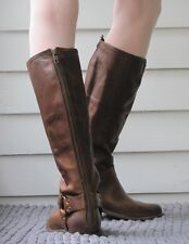 Frye Phillip Harness Tall Dark Brown Leather Riding Boots Shoes 9 B NIB NEW $499
