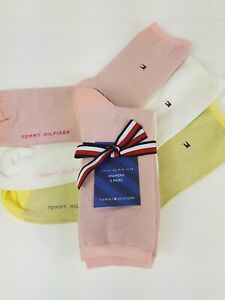 Tommy hilfiger socks women 3 PAIRS GIFT PACK SPARLE CREW SOCKS SIZE UK 2.5-5