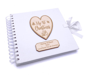 Personalised My First Christmas White Scrapbook Photo album