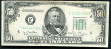 "1950 $50 Frn Federal Reserve Note ""Reverse Print Shift Error�"