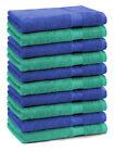 Betz Set di 10 lavette Premium misura 30 x 30 cm 100% cotone colore verde smeral