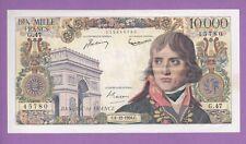 ( Ref: G.47) 10000 FRANCS BONAPARTE 6/12/1956 (SUP+) RARE