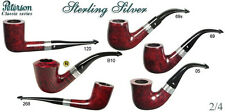 PIPA PIPE PFEIFE PETERSON OF DUBLIN STERLING SILVER LISCIA BORDEAUX ARGENTO PLIP