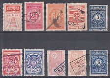 Finland Hs 13b/86b used 1918-1946 Railway Stamps, 10 different, F-Vf group