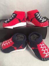 2 Pair Nike Air Jordan 0-6 Months Baby Booties Infant Blue Red Gift Boys (B3)