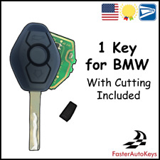 [CUTTING INCLUDED] - 1 Diamond Style Keyless Remote Key with 315Mhz Chip for BMW