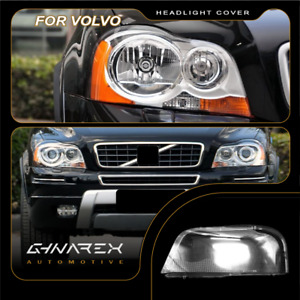 For Volvo XC90 2004-2013 Headlight Lens Replacement Cover LEFT+RIGHT