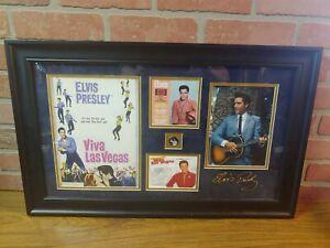 Elvis Presley Framed Las Vegas Performance Memorabilia with COA