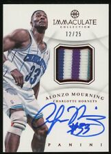 2012-13 Immaculate Red Alonzo Mourning 4-Color GU Patch AUTO 12/25