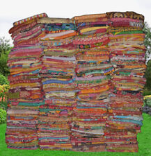 WHOLESALE LOT INDIAN KANTHA VINTAGE BLANKET THROW QUILT HIPPY BEDDING QUILTS