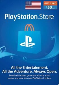 PSN Card 50$ (USD) PlayStation Network USA