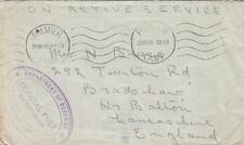 MILITARY :1940 stampless cover  from S.Africa to UK-PREMIER/CAMP machine