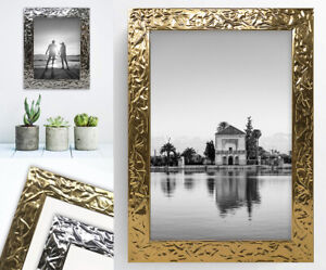 Canterbury Photo Poster Frame Metallic Chrome Gold Picture Wide Wall Mounted UK