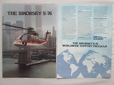 9/1981 PUB SIKORSKY S-76 HELICOPTER NEW YORK MANHATTAN TWIN TOWERS ORIGINAL AD