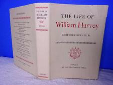 THE LIFE OF WILLIAM HARVEY BY GEOFFREY KEYNES-(1966 HC, 1ST) ILLUSTRATED