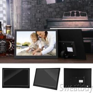 12 Zoll HD LED Digitaler Fotorahmen Alarm-Fotorahmen Film-Fotorahmen Schwarz