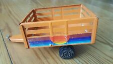 Vintage Metal Tonka Trailer Orange With Rainbow Sticker FREE SHIPPING!