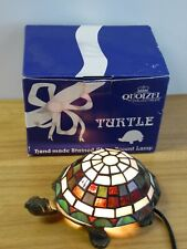 Quoizel Collectibles. Handmade Stained Glass Accent Turtle Lamp.