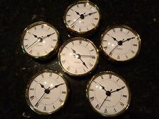 "18 PAK- 3-1/8""(80MM) QUARTZ CLOCK FIT-UP/Insert,Gold Trim, Roman,White Face, HMS"