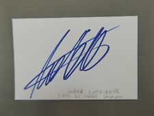 """3.5"""" x 2.5"""" WHITE AUTOGRAPH CARD HAND SIGNED BY ANDRE LOTTERER"""