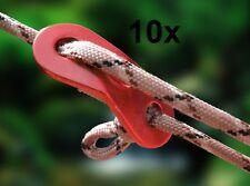 10x Alu Zweilochspanner Schnurspanner Zeltspanner Zeltleine Leinenspanner 6mm