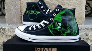Green Arrow - Converse All Stars Custom Hand Painted Canvas Sneakers ~ US Custom