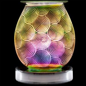 Electric Desire Aroma Lamp 3D Circles design for Oils or Wax melt IDEAL GIFT