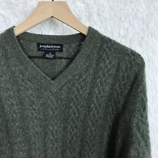 Joseph & Lyman Mens Small Green Cable Knit Cashmere Sweater Limited Collection