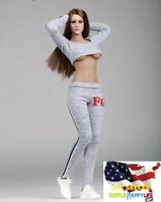 1/6 women sport gym body tracksuit w/ shoes for phicen hot toys ❶US SELLER❶