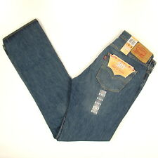 Levis 501 Jeans Original  New Mens Size 34 x 36 DARK BLUE WITH FADE Levi's NWT
