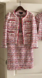 NWOT J.Crew Collection Tweed Lady Jacket   Skirt Suit Size 0