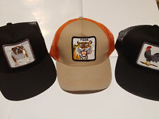 3 Mesh Snap Back Hats Cock Rooster Butch Bull Dog Tiger Trucker Embroidered Caps