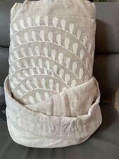 New Restoration Hardware Palmette Embroidered Linen Queen Duvet Cover $599