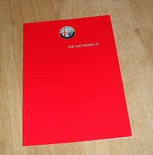 Alfa Romeo 33 Brochure 1986 1.3S 1.5 1.5 Cloverleaf - UK Market