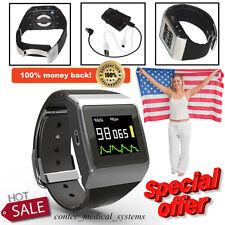 FDA CMS50K Wrist ECG/SpO2 Heart Rate Monitor,Pedometer Step Pulse Watch,Wireless