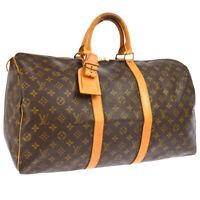 LOUIS VUITTON KEEPALL 50 TRAVEL HAND BAG PURSE MONOGRAM M41426 SP0991 RK14435