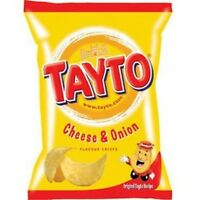 Tayto Cheese & Onion Crisps 25g Northern Ireland 20 Packets