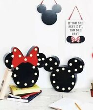 BRAND NEW DISNEY MICKEY MOUSE & MINNIE MOUSE LED STAND LAMP SET NEW
