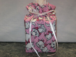 Disney Aristicat cat Marie, pink cotton Fabric Handmade Square Tissue Box Cover