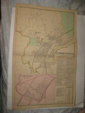 Antique 1869 Cumminsville Carthage Cincinnati Hamilton County Ohio Handcolor Map