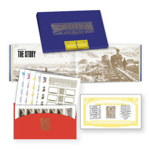 USPS New Transcontinental Railroad Commemorative Box Set