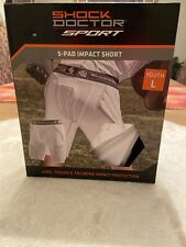 Shock Doctor Sport 5 Pad Impact Shorts Pads Hip Thigh and Tailbone Youth Large