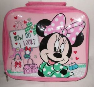 Kids Official Disney Minnie Mouse Character School Lunch Bag