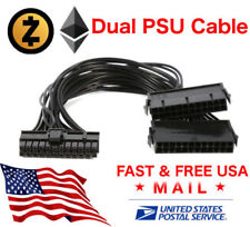 24 Pin 20+4 Dual Multiple PSU Power Supply Splitter Adapter 30 cm 18AWG USA FAST